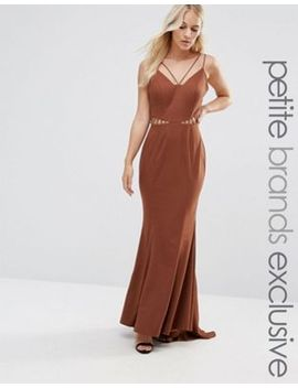 jarlo-petite-strappy-maxi-dress-with-waist-cutout-detail by jarlo-petite