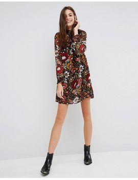 brave-soul-floral-print-smock-dress by dress
