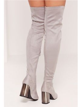 bone-heel-over-the-knee-boots-grey by missguided