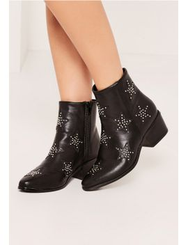 black-star-studded-ankle-boots by missguided