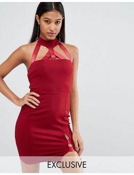 naanaa-mini-pencil-dress-with-strap-detail by naanaa