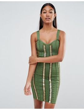 wow-couture-bandage-dress-with-gold-bars by wow-couture