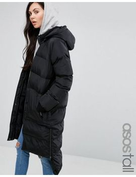 asos-tall-puffer-coat-with-step-hem by asos-tall