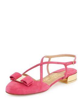 strappy-suede-sandal,-framboise by salvatore-ferragamo