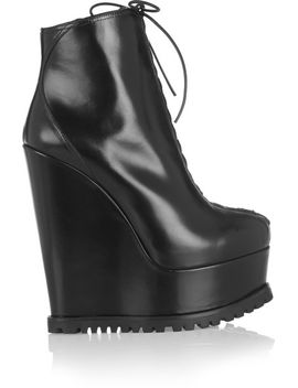 leather-wedge-ankle-boots by alaïa