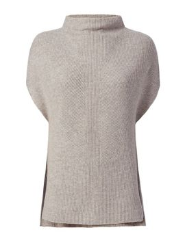 sleeveless-ribbed-turtleneck:-grey by vince