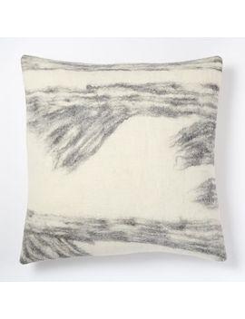 felt-ikat-pillow-cover---platinum by west-elm