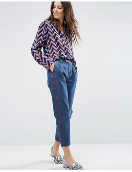 asos-denim-pants-with-red-side-piping by asos-collection