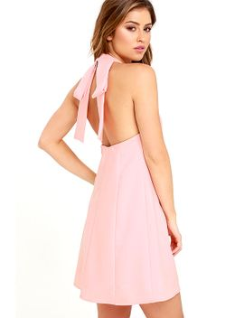viva-la-vida-blush-pink-backless-swing-dress by lulus