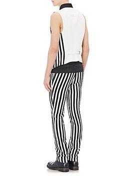 stripe-appliquéd-trousers by john-varvatos