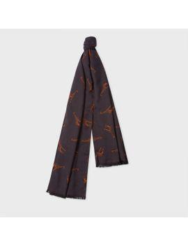 Men's Grey 'giraffe' Pattern Scarf by Paul Smith