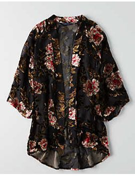 aeo-velvet-burnout-kimono by american-eagle-outfitters