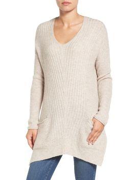 long-shark-bite-hem-sweater by caslon®