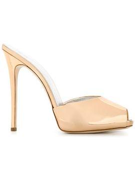 'sarah' Peep Toe Mules by Giuseppe Zanotti Design