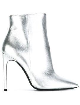 Metallic Stiletto Boots by Pollini