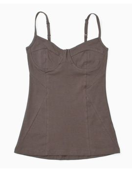 Women's Hush Bustier Tank (Solid Olive) by 80's Purple