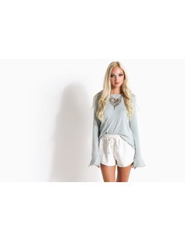 Women's Nightcap Sweater (Powder Blue) by 80's Purple