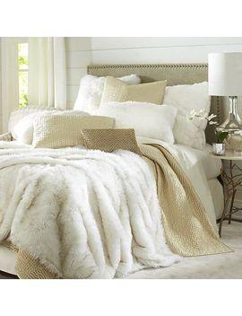 faux-fur-arctic-fox-blanket-&-sham by pier1-imports