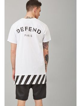 defend-paris-warning-stripe-layered-tee by forever-21