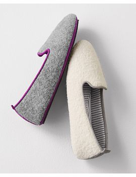 Acorn Wool Lounging Slippers By Garnet Hill