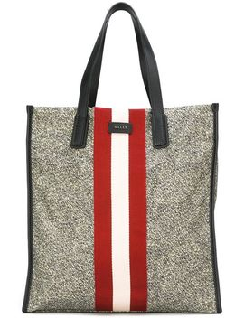 Striped Detail Shopping Bag by Bally