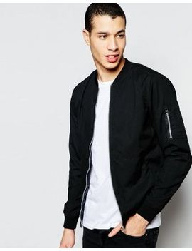 pull&bear-bomber-jacket-in-black by pull&bear