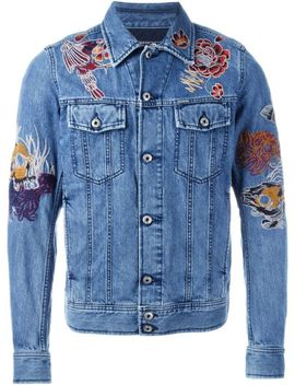 Embroidered Denim Jacket by Diesel