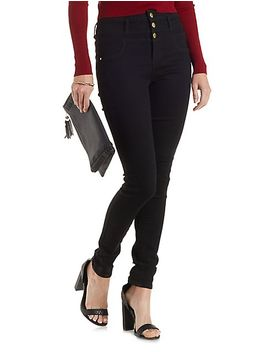 refuge-high-waist-skinny-jeans by charlotte-russe