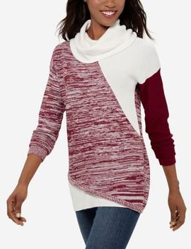 Color Blocked Cowl Neck Tunic by The Limited