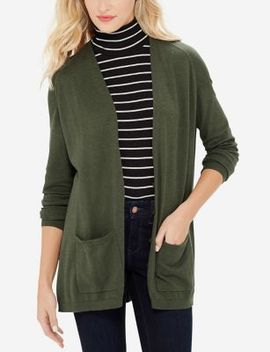 V Neck Trapeze Cardigan by The Limited