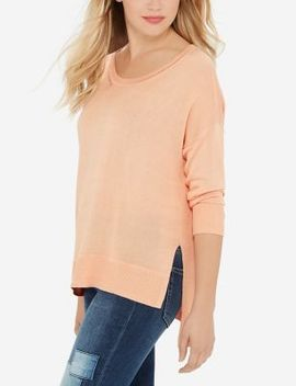 Crew Neck Asymmetrical Sweater by The Limited