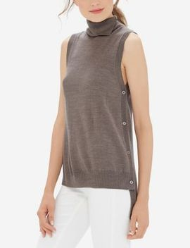 Sleeveless Turtleneck Top by The Limited