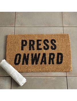 Press Onward Coir Doormat By West Elm