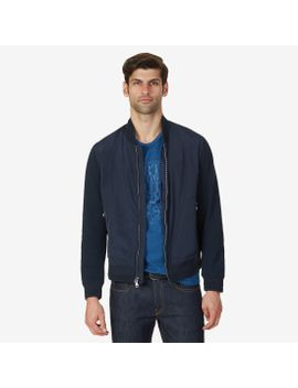 Lightweight Knit Trim Bomber Jacket by Nautica