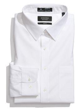 smartcare-trim-fit-solid-dress-shirt by nordstrom-mens-shop