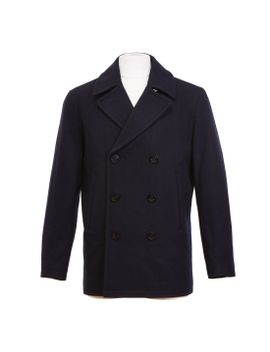 Double Breasted Wool Blend Peacoat by Nautica