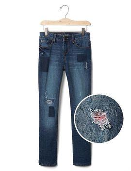 Shoptagr 1969 Fleece Lined Stretch Straight Jeans By Gap