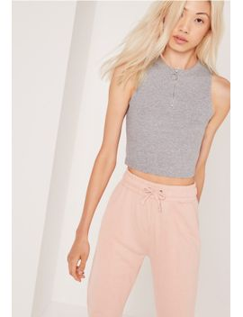 ring-pull-zip-crop-top-grey by missguided