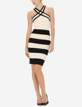 Eva Longoria Power Knit Halter Dress by The Limited