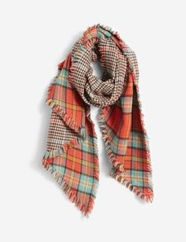 Plaid Blanket Scarf by The Limited
