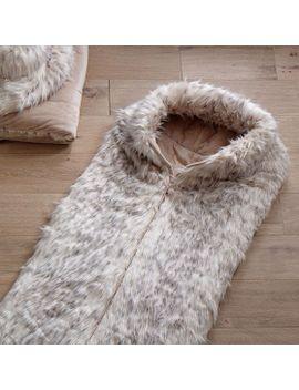 Pb Snow Cat Faux Fur Sleeping Bag
