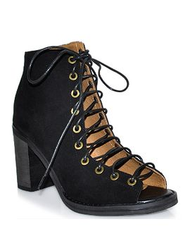 Jeffrey Campbell   Cors   Lace Up Bootie by Jeffrey Campbell