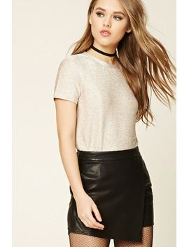 metallic-knit-tee by forever-21