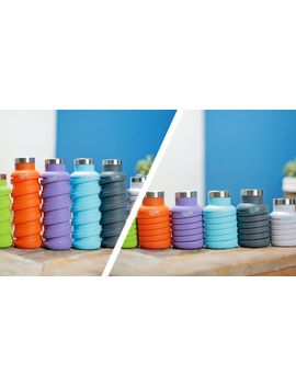 Collapsible Water Bottle 12 Fl Oz   Sunbeam Orange by Que Bottle