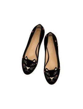 Lucky Kitty Flats by Charlotte Olympia
