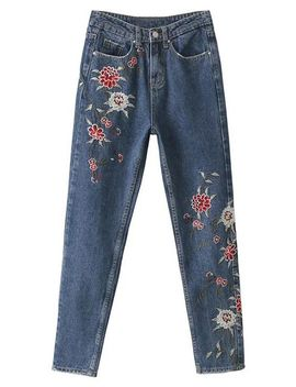 Embroidered Mom Jeans by Sammy Dress
