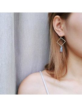 Jael   Square Rhombus Hook Earrings by Yes Style Ca