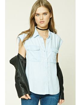 striped-chambray-shirt by forever-21