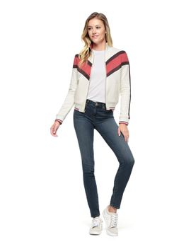 Shoptagr color block french terry jacket by juicy couture for What does couture mean in french