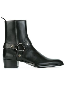 classic-wyatt-harness-ankle-boots by saint-laurent